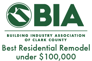 Clark County Building Industry Association Best Residential Remodel under $100,000